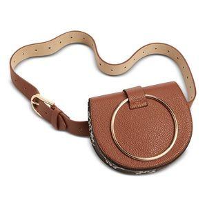 Steve Madden convertible belt bag (bag to clutch)
